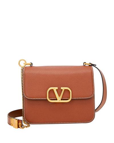 VSLING Pebbled Leather Shoulder Bag