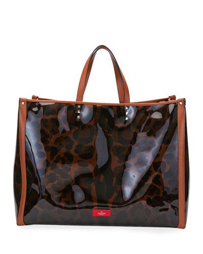 Grande Plage Leopard Large Tote Bag