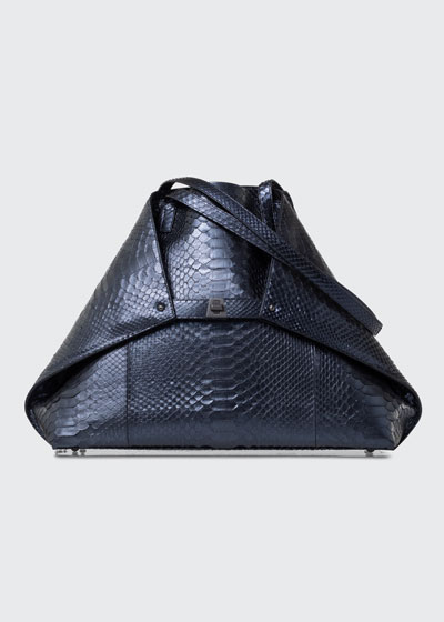 Ai Medium Soft Python Shoulder Tote Bag