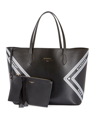 Wing Smooth Logo Shopping Tote Bag