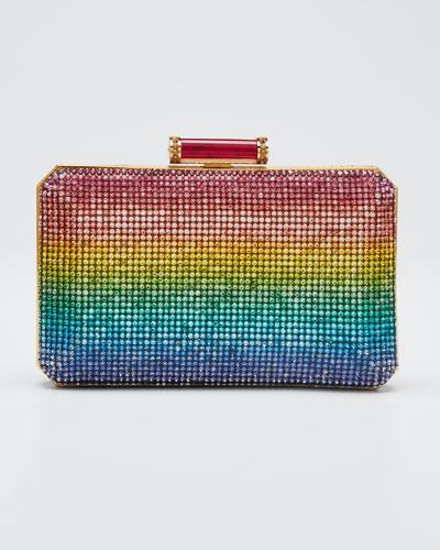 Soho Rainbow Crystal Clutch Bag