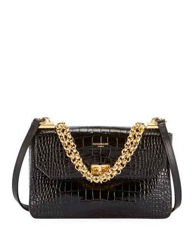 Catena Small Crocodile Shoulder Bag