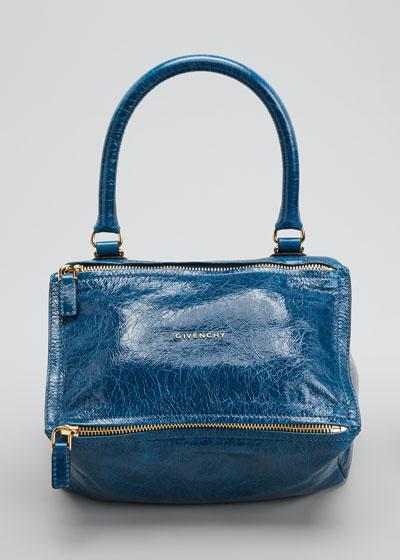 Pandora Small Leather Shoulder Bag, Blue