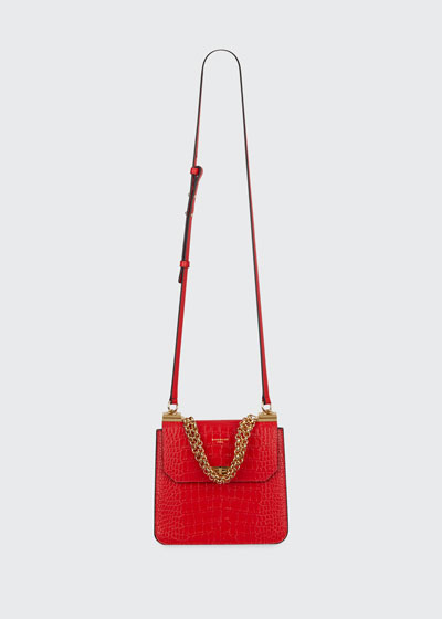 Catena Medium Crocodile Shoulder Bag