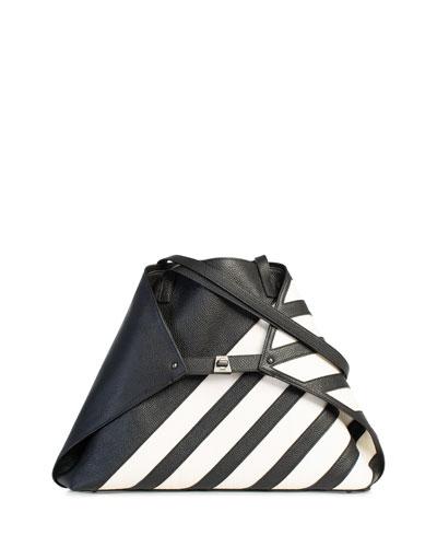 Ai Medium Soft Shoulder Bag with Horsehair Stripes