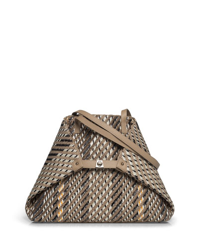 AI Medium Soft Woven Shoulder Tote Bag