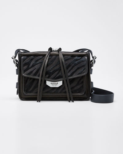Small Field Messenger Bag with Calf Hair