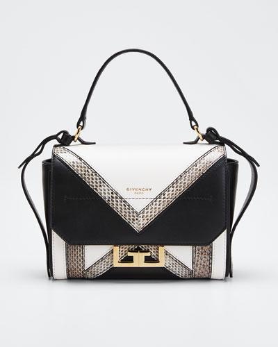 Eden Mini Colorblock Snakeskin Shoulder Bag