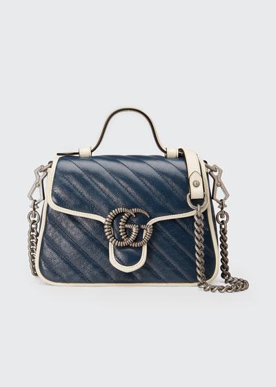 GG Marmont Mini Torchon Top-Handle Bag