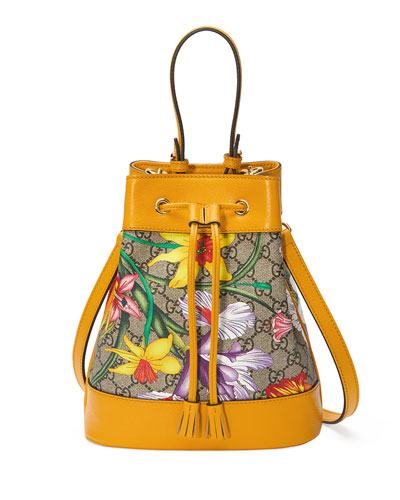 Ophidia Small GG Flora Bucket Bag