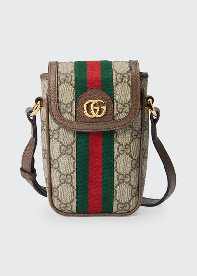 Ophidia GG Supreme Phone Case Crossbody Bag