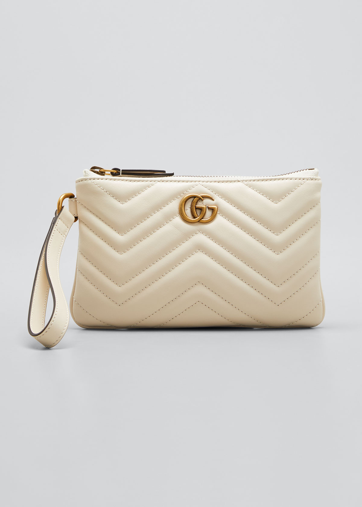 Gucci Cardholders GG MARMONT QUILTED WRIST WALLET
