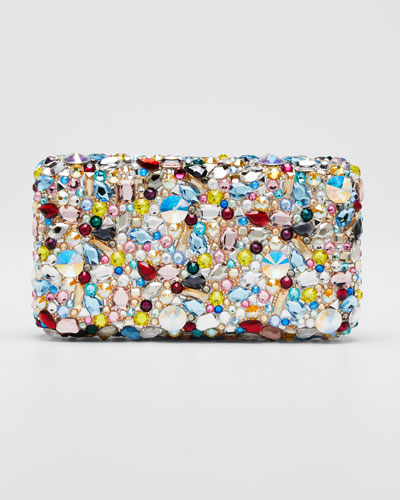 Rectangle Eclipse Beaded Clutch Bag