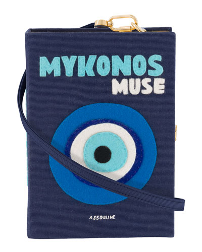 Mykonos Strapped Book Clutch Bag