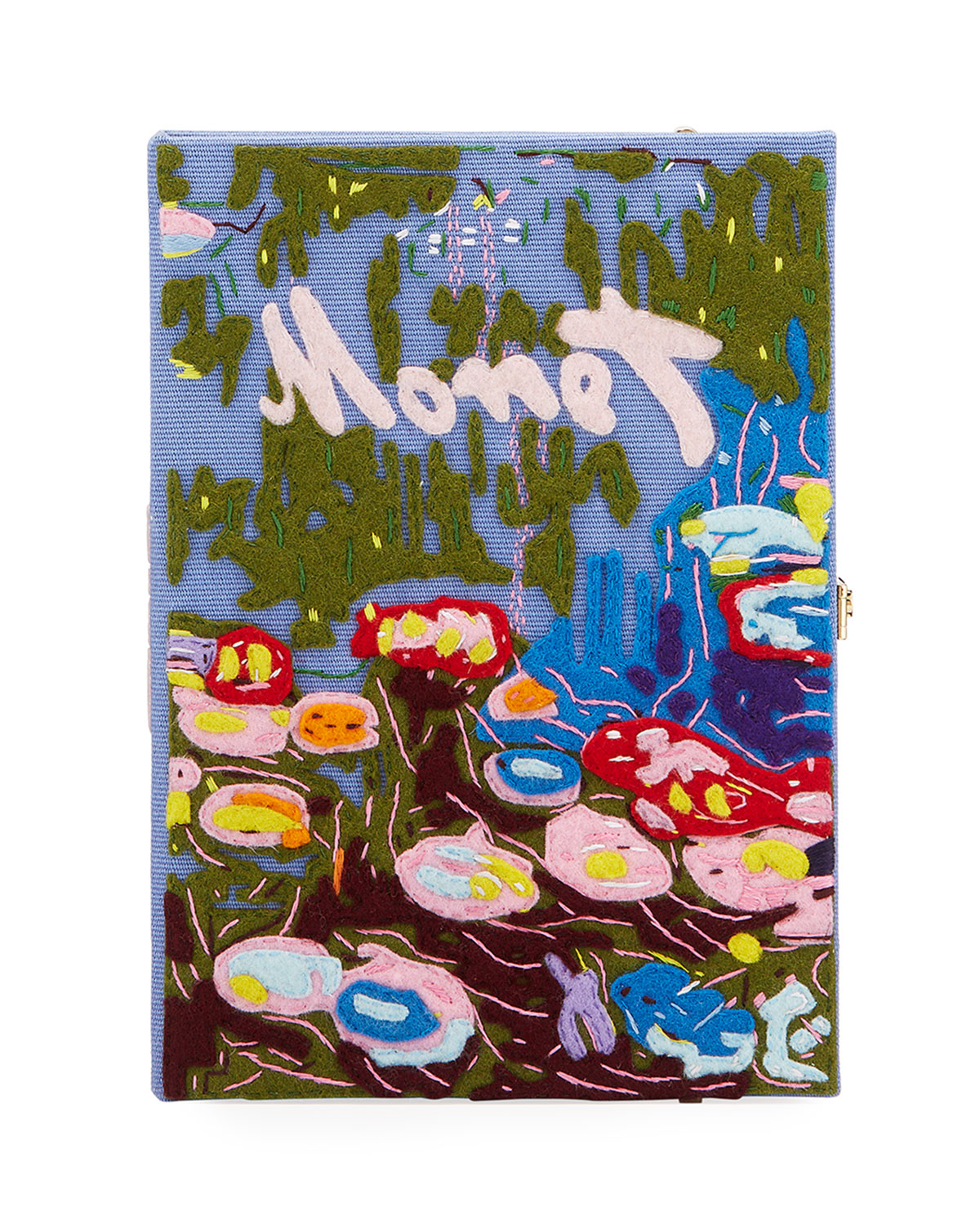 Olympia Le-Tan MONET STRAPPED BOOK CLUTCH BAG