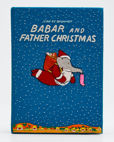 Babar and Father Christmas Clutch Bag
