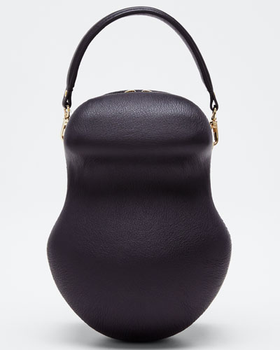 Leather Scarab Top Handle Bag