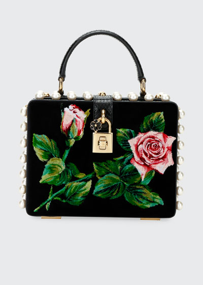 Tropical Rose Mini Top-Handle Bag