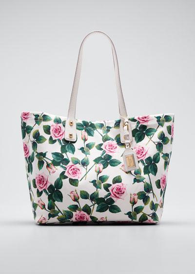 Tropical Rose Canvas Tote Bag