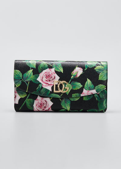 Tropical Rose Mini Crossbody Bag
