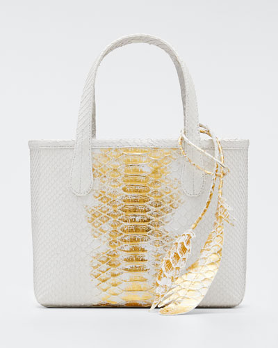 Erica Mini Python Leaf Tote Bag