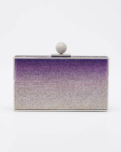 Clara Crystal Box Clutch Bag, Purple Pattern