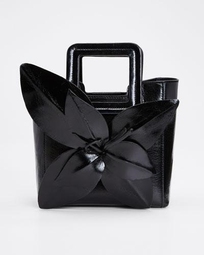 Shirley Leather Fleur Mini Tote Bag