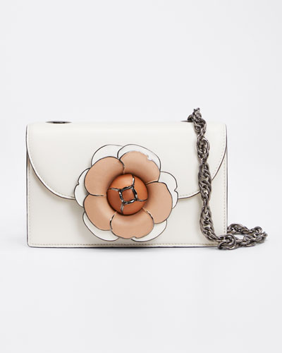 Tro Flower Leather Shoulder Bag
