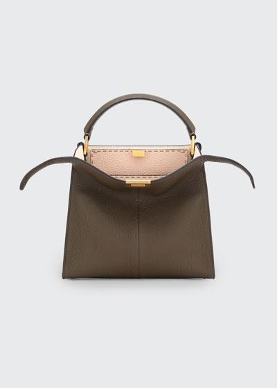 Peekaboo Xlite Leather Tote Bag