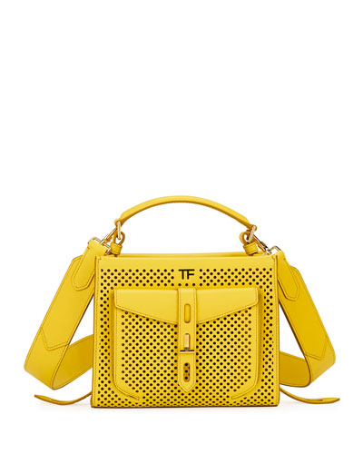 T Twist Mini Perforated Top-Handle Bag