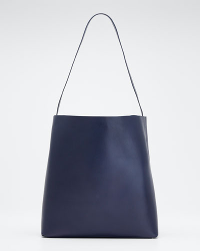Soft Leather Sac Tote Bag, Navy