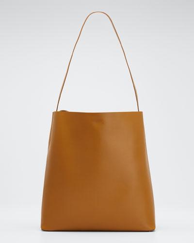 Soft Leather Sac Tote Bag, Light Brown