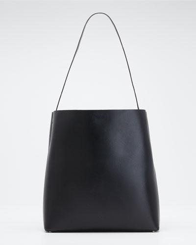 Soft Leather Sac Tote Bag, Black