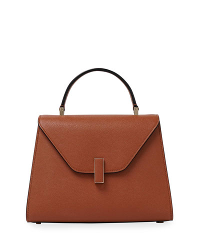 Iside Leather Top-Handle Bag