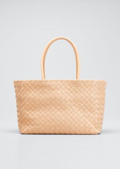 Medium Woven Top Handle Bag