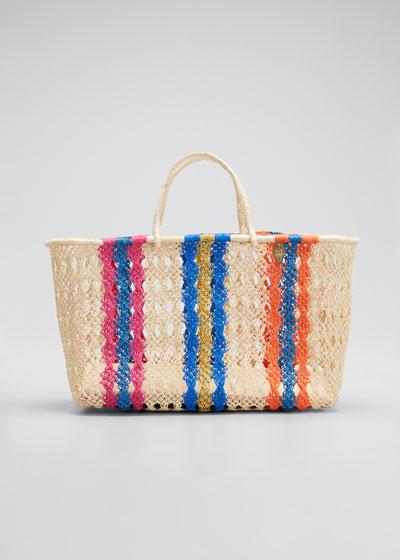 Margo Medium Striped Tote Bag