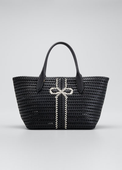 The Neeson Stripe Leather Tote Bag
