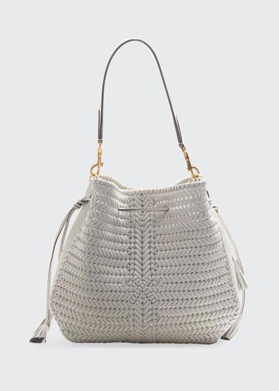 The Neeson Braided Hobo Bag, White