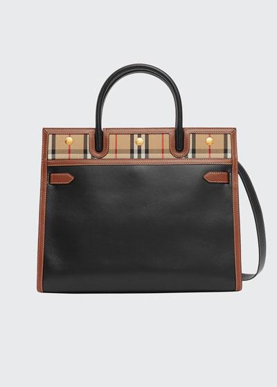 Mini Title Check-Trim Tote Bag
