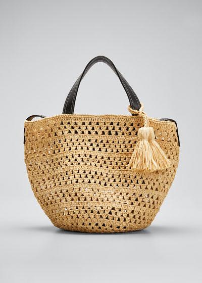 Crochet Raffia Bucket Bag