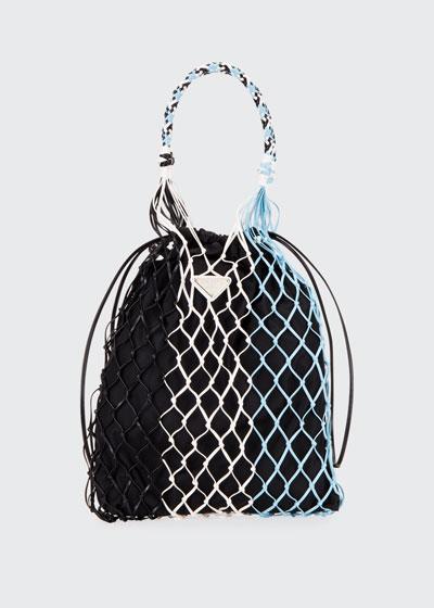 Rete Colour Net Top Handle Bag
