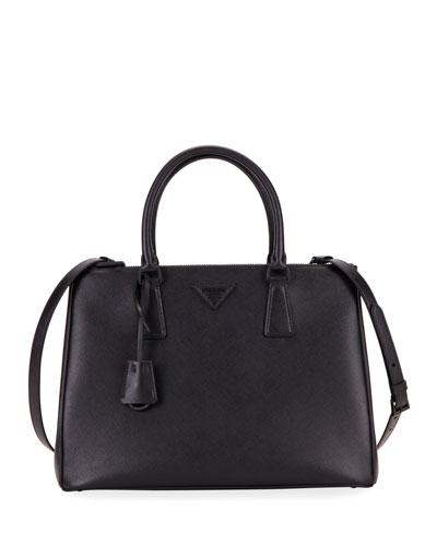 Galleria Medium Saffiano Dual-Zip Satchel Tote Bag