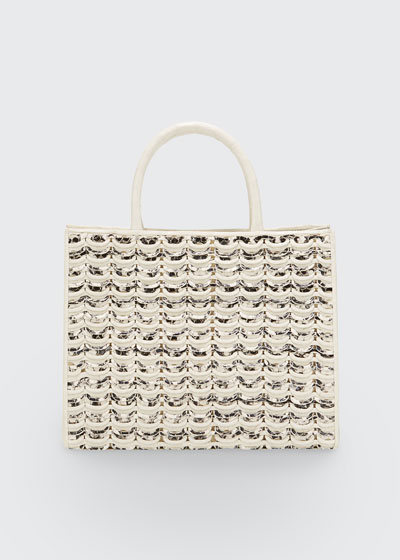 Limited-Edition Emma Small Woven Tote Bag