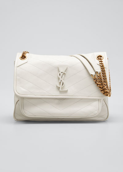 Niki Medium Monogram YSL Lamb Leather Shoulder Bag