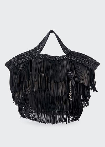 Panier Fringes Large Tote Bag w/ Tassel