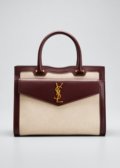 Uptown Medium YSL Canvas Satchel Bag
