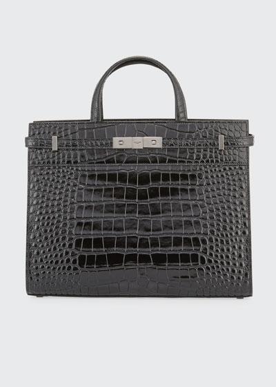 Manhattan Small Croco Tote Bag