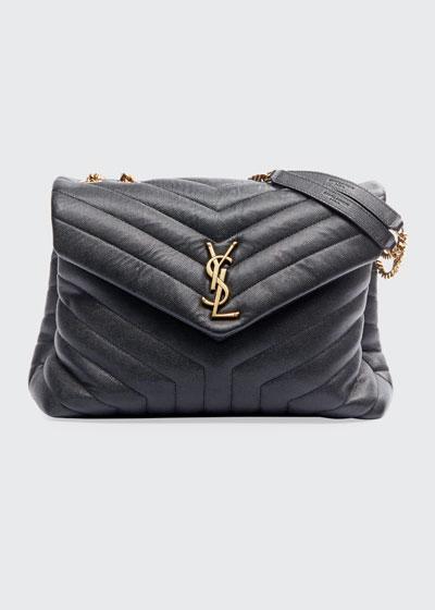 Loulou Medium Pebbled Leather Flap-Top Shoulder Bag