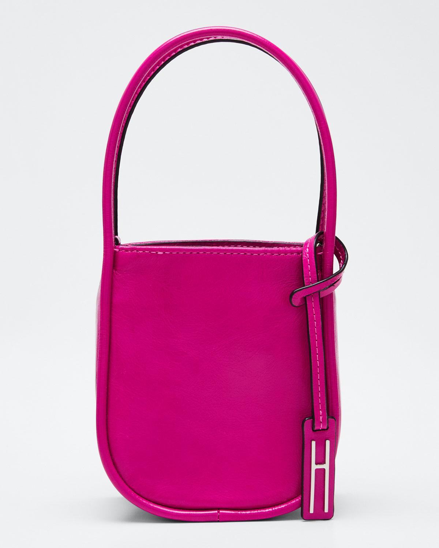 Hayward Guide Crinkled Leather Top-Handle Tote Bag In Pink