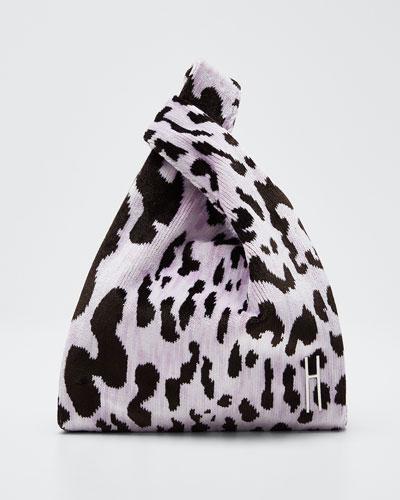 Mini Shopper Leopard Clutch Bag